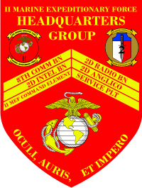 2nd MEF Marine Expeditionary Force Headquarters Group Decal