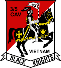 3rd Squadron 5th Cavalry Black Knights Decal