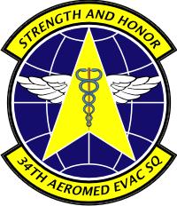 34th Aeromed Evac Squadron Decal