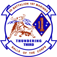 3rd Battalion 1st Marines - 2 Decal