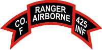 425th Infantry Airborne Ranger F Co. Scroll Decal