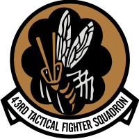43rd Tactical Fighter Squadron Decal