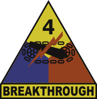 4th Armored Division Breakthrough Decal