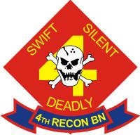 4th RECON Battalion Decal