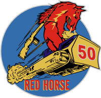 50th Red Horse Decal