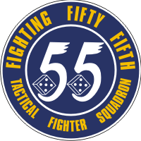 55th Tactical Fighter Squadron Decal