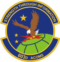 603rd Air Communications Squadron Decal