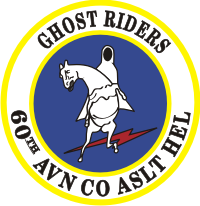 60th AHC Assault Helicopter Company Ghost Riders Decal