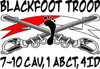 7-10 Cavalry Blackfoot Troop – 2 Decal