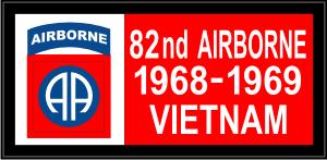 82nd Airborne Vietnam Banner Decal