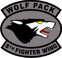 8th Fighter Wing Wolf Pack Decal
