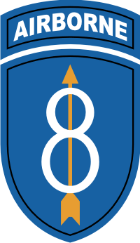 8th Infantry Division Airborne Decal