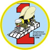 Amphibious Construction Battalion ONE Decal