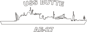 USS Butte AE 27 (White) Decal