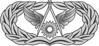 AF Civil Engineer Badge (Silver) Decal