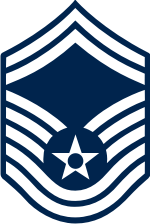 AF E-8 SMSGT Senior Master Sergeant (Blue) Decal
