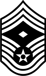 AF E-9 1SGT First Sergeant (B&W) Decal