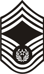 AF E-9 CMSAF 2004 Chief Master Sergeant of the Air Force (B&W) Decal