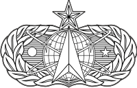 AF Space and Missile Badge (Black/White) Decal