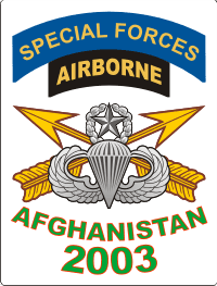 Afghanistan SFABN Veteran 2003 (In White Box) Decal