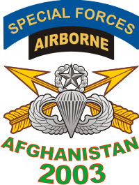 Afghanistan SFABN Veteran 2003 Decal