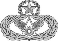 AF Master Civil Engineer Badge (Silver) Decal