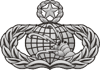 Air Force Master Communications Badge Decal