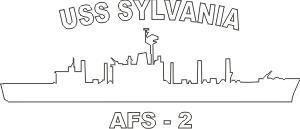 USS Sylvania AFS 2 (White) Decal