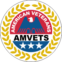 American Veterans AMVETS w/White Background Decal