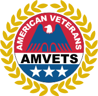 American Veterans AMVETS w/Clear Background Decal