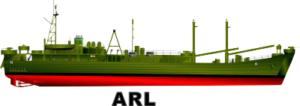 ARL Landing Craft Repair Ship Decal
