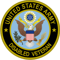Army Disabled Veteran Decal