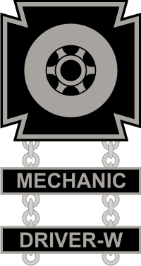 Army Driver and Mechanic Badge Decal