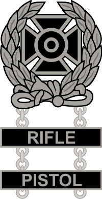 Army Expert Weapons Double Qualification Badge Decal