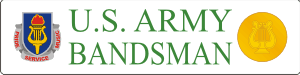 U.S. Army Bandsman Decal