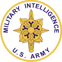 US Army Military Intelligence Corps Plaque Decal
