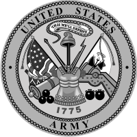 Army Seal (Black/White) Decal