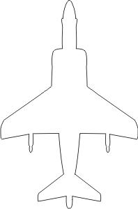 McDonnell Douglas AV-8B Silhouette (White) Decal