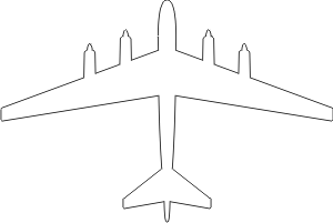 Boeing B-52 Model 464-35 Silhouette (White) Decal