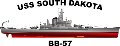 South Dakota Class Battleship BB Decal