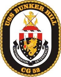 USS Bunker Hill CG-52 Decal