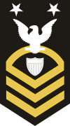 USCG E-9 CMC Command Master Chief Petty Officer (Gold on Black) Decal