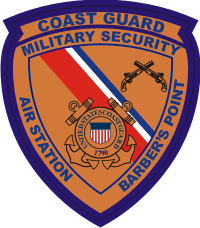 CG Military Security Barber's Pt Decal