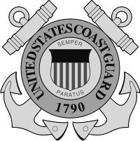 Coast Guard Seal (v4) (Black/White) Decal