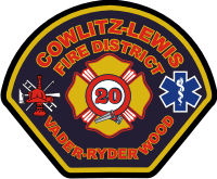 Cowlitz Lewis County FD Decal