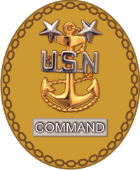 CMC Command Master Chief Pin Decal