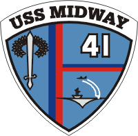 CVA-41 USS Midway Decal