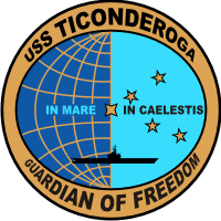CVA-14 USS Ticonderoga Decal