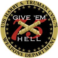 CVN-75 USS Harry S. Truman Weapons Department Decal