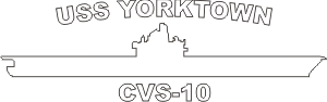 Anti-Submarine Carrier CVS (White) Decal
